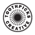 Toothpicks company logo retail design cafe design specialists